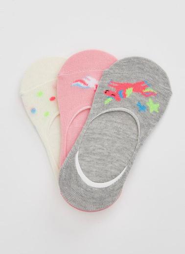 DeFacto 3'lü Çorap Pembe